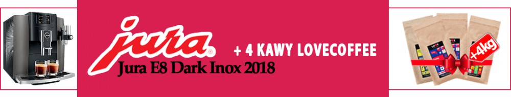 Jura E8 Dark Inox 2018 kawa gratis