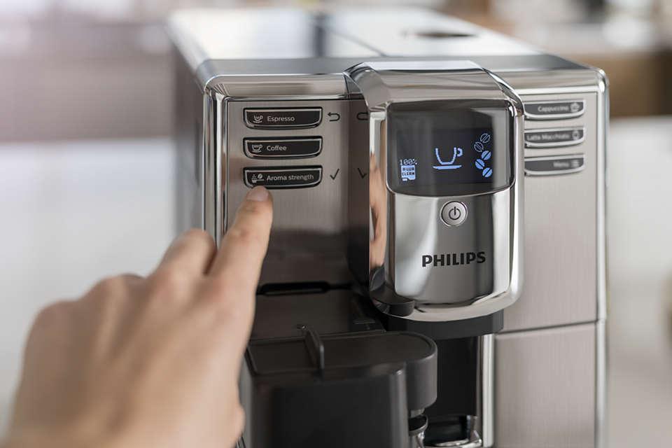 panel sterowania w ekspresie do kawy Philips 5000