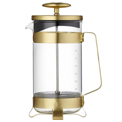 French press barista & co - 8 cup plunge pot - gold
