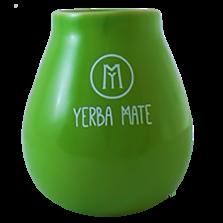 Ceramiczna Zielona Tykwa z Napisem Yerba Mate - 450ml