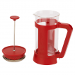 French Press Bialetti Red 1000ml widok z boku detal