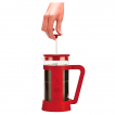 French Press Bialetti Red 1000ml widok z boku kawa
