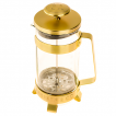French Press Barista Co 3 Cup Plunge Pot Gold widok z boku